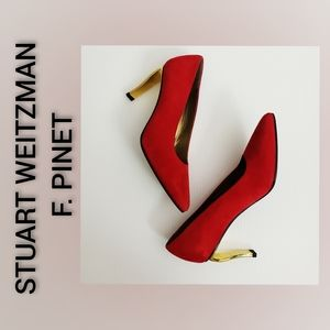 STUART WEITZMAN for F. Pinet Heeled Shoes Red 6.5